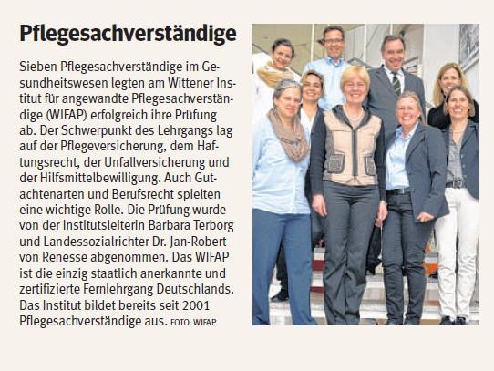Sabine Zimmermann-Obeth legt erfolgreich Prfüfung zur Pflegesachverständigen ab - Artikel WAZ