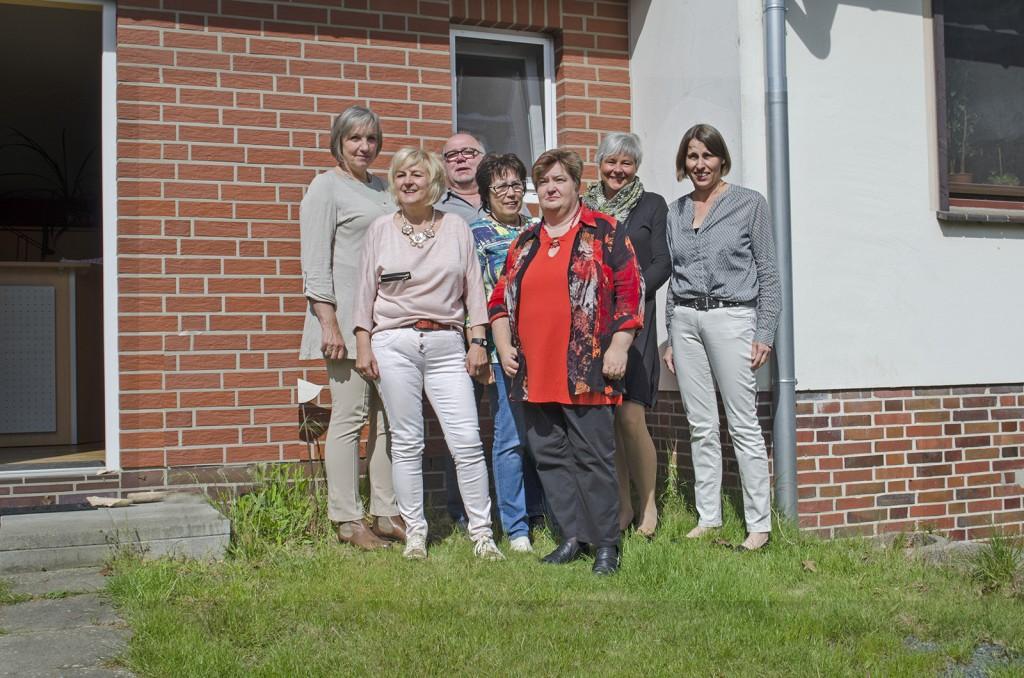 Anke Gries-Borch, Sylvia Örs, Mathias Salomé, Brigitte Lamm, Katrin Teske, Martina Schopohl und Sabine Zimmermann-Obeth (v.l.n.r.)